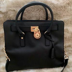 Michael Kors large black Hamilton handbag
